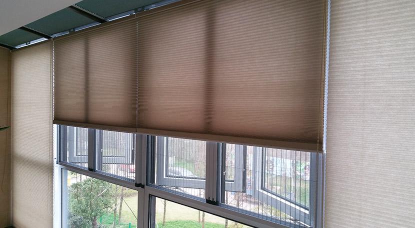 家居阳台半遮光面料拉珠式蜂巢帘